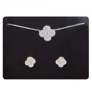 Four-leaf clover model (earring, Necklace, SET)
