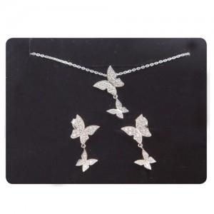 Butterfly model (earring, Necklace, SET)
