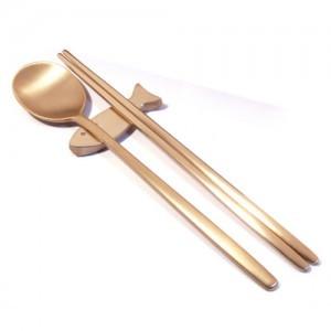 Brass spoon, chopstick (Korean Traditional Pattern, Minzza)