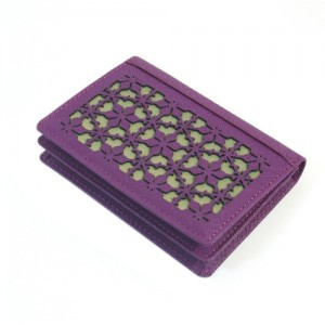 Business Card case with Peony Pattern (Purple)