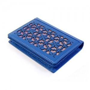 Peonies doors Business Card (Blue)