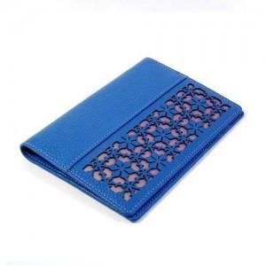 Peonies doors passport wallet (Blue)
