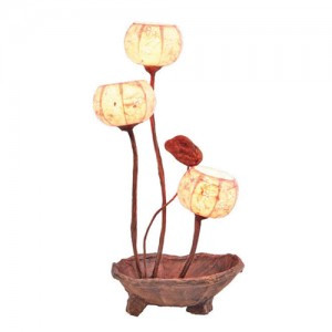 Korean Traditional Paper Lamp (Design: Flowers On the Plate)