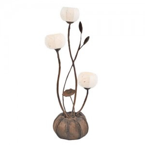 Korean Traditional Paper Lamp (Design: 3 Anemones)