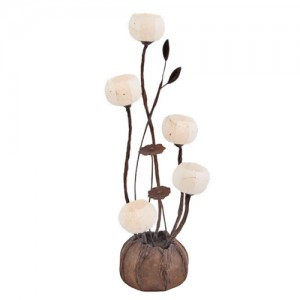 Korean Traditional Paper Lamp (Design: 5 Anemones)