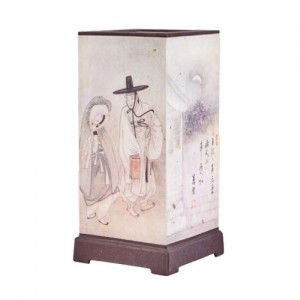 Lamp with painting of Korean artist YoonBok Shin