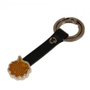 Feldspar leather key chain (fish)