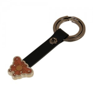 Feldspar leather key chain (butterfly)