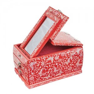 Arabesque Style Mirror Stand (Red)