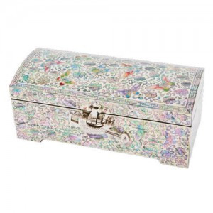 2 Drawers Jewelry Box painted Butterflies