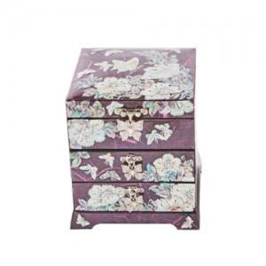 Peony Jewelry Box (Red, Purple)