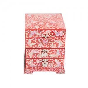 Foliage Jewelry Box with 4 Drawers