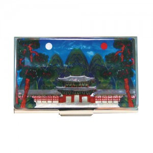 Business card case (Design: Irworobongdo - The painting of Sun, Moon and Five Peaks)