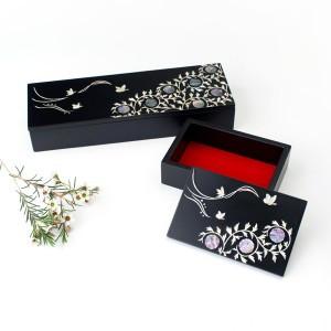 A set of pencil/namecard case (Design: Apricot flowers)