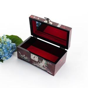 Rectangular jewelry box (The symbolic icon of longevity, 'Pine and Crane')