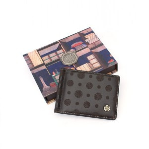 Traditional Pattern Money Clip Wallet