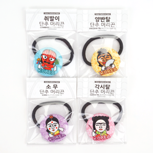 Button style hair band