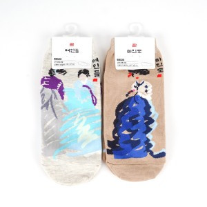 Socks printed Hanbok(Korean Traditional costume)