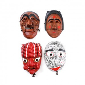 Korean Traditional Mask (Yangban-tal, Gakshi-tal and Bongsan-tal)