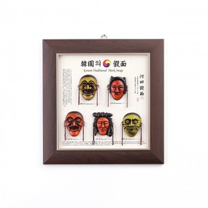 Frame with Korean traditional masks (2 · 3 · 5 · 7 units)