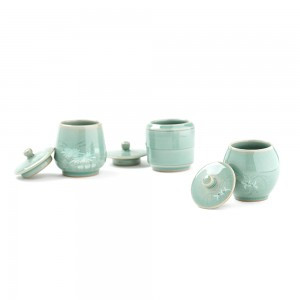 Korean Celadon Style Jar for Tea Leaves