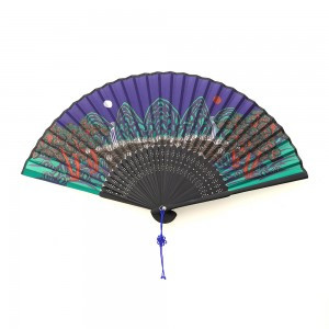Fan with folk painting