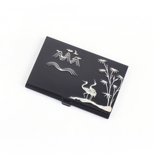 Business Card Case inlaid with Mother-Of-Pearl