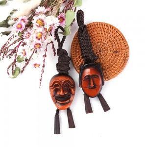 Wooden Necklace(Design: Korean Traditional Mask)