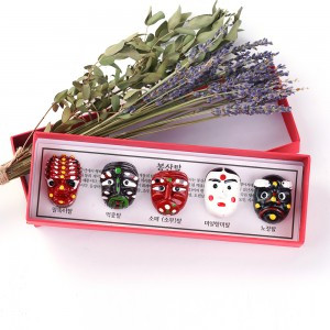 A Set of Magnets (Korean Traditional mask-Bongsan)