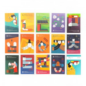 Hangeul Illustration Postcard