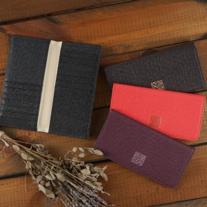 Cowhide Long Wallet with Hangeul