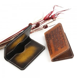 Leather Wallet with Hunminjeongum