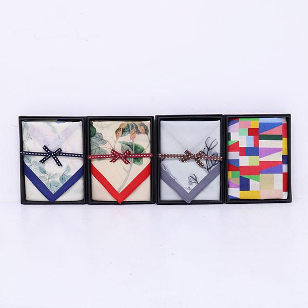 Handkerchief with Korean folk painting